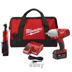 Milwaukee 2663-22R M12 12V Ratchet 3/8 M18 18V Impact Wrench 1/2 Cordless NEW