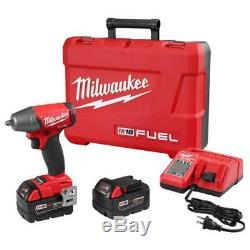 Milwaukee 2754-22 M18 FUEL 18-Volt 3/8-Inch Compact Impact Wrench with Batteries