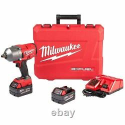 Milwaukee 2766-22 M18 FUEL 18V 1/2-Inch High Torque Detent Pin Impact Wrench Kit