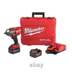 Milwaukee 2766-22 M18 FUEL 1/2 High Torque Impact Wrench with Pin Detent Kit
