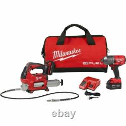 Milwaukee 2767-22GG M18 FUEL High Torque ½ Impact Wrench with Grease Gun NEW