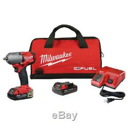 Milwaukee 2852-22CT M18 FUEL 3/8 Impact Wrench with Friction Ring 2.0 Kit New