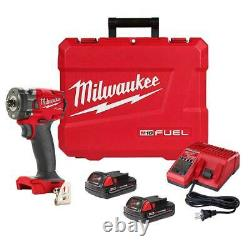 Milwaukee 2854-22CT M18 FUEL 18V 3/8 Cordless Li-Ion Compact Impact Wrench Kit