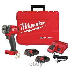 Milwaukee 2854-22CT M18 FUEL Li-Ion BL 3/8 in. Impact Wrench Kit (2 Ah) New