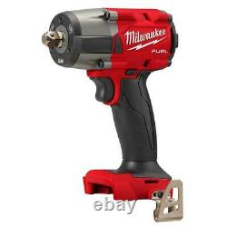 Milwaukee 2962P-20 M18 FUEL 1/2 Mid-Torque Impact Wrench withPin Detent-Bare Tool