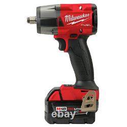 Milwaukee 2962-22 M18 FUEL Li-Ion BL 1/2 in. Impact Wrench Kit (5 Ah) New