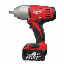 Milwaukee HD18HIWF-402C 18v 1/2 Impact Wrench Friction Ring 2 4Ah Batteries Case