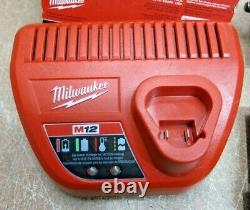 Milwaukee M12 12V Cordless Friction Ring Impact Wrench Battery & Charger 2554-20
