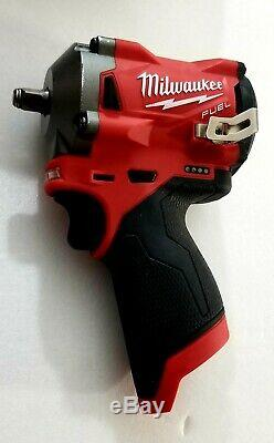 Milwaukee M12 12V Cordless Impact Wrench 255420 w 2 batteries