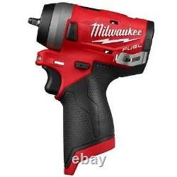 Milwaukee M12 2552-20 M12 FUEL 12V 1/4-Inch Stubby Impact Wrench Bare Tool