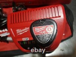 Milwaukee M12 3/8 ratchet kit 4.0AH & 1.5ah batteries 2457-21 XC with bag NEW