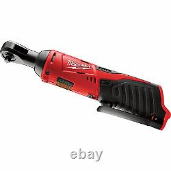 Milwaukee M12 Cordless 1/4in RatchetTool Only, 12 Volt, #2456-20