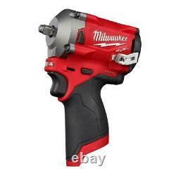 Milwaukee M12 FUEL 12-Volt Lithium-Ion Brushless Cordless Stubby Impact Wrench