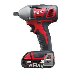 Milwaukee M18BIW12-202C 18v 1/2 Cordless Impact Wrench 2 2.0Ah Batteries Charger