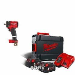 Milwaukee M18FIW2F12-502X 18v Cordless 1/2 Fuel Impact Wrench Kit 2 x5.0ah