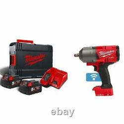 Milwaukee M18ONEFHIWF12-502X 18v 1/2 Cordless Impact Wrench 2 X 5.0Ah Batteries