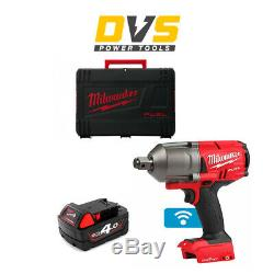 Milwaukee M18ONEFHIWF34-0 18v 3/4in One-Key Fuel HigTorque Impact Wrench 1x4Ah
