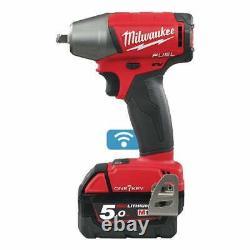 Milwaukee M18ONEIWF38-502X 18v 3/8 Cordless Impact Wrench 2 x 5.0ah Batteries