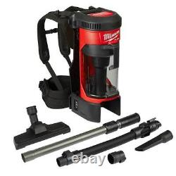 Milwaukee M18 0885-20 18-Volt FUEL 3-in-1 Cordless Backpack Vacuum Bare Tool
