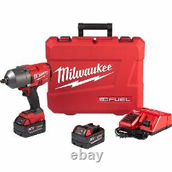 Milwaukee M18 Cordless 1/2in High-Torque Impact Wrench withFriction Ring-2 Batt
