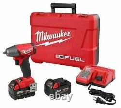 Milwaukee M18 FUEL 3/8 Impact Wrench Friction Ring Kit 5.0 Batteries 2754-22