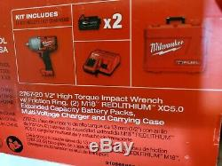 Milwaukee M18 FUEL Cordless High-Torque Impact Wrench Kit 2 Batteries 2767-22