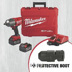 Milwaukee M18 FUEL Cordless High-Torque Impact Wrench Kit and Add a M18 Fuel