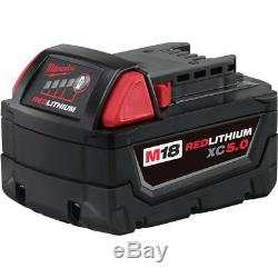Milwaukee M18 FUEL Li-Ion 1/2 in. Compact Impact Wrench Kit 2755B-22 New