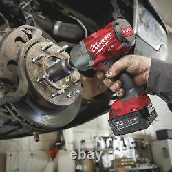 Milwaukee M18 FUEL Li-Ion Cordless 1/2in Impact Wrench LED Light and Socket Set