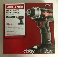NEW Craftsman 3/8in Compact Impact Wrench 19.2V Cordless System 932742 32742