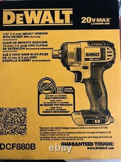 NEW DEWALT DCF880B 20V MAX Cordless Li-Ion 1/2 in. Impact Wrench Tool Only