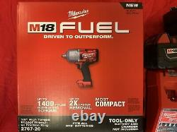 NEW Milwaukee 2767-22 M18 FUEL High Torque 1/2 With 2 5.0ah Batteries, Charger