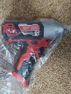 NEW Milwaukee M12 2463-20 12-Volt 3/8-Inch 3/8 Impact Wrench with New Battery