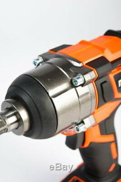 NEW Mondis 1/2 Cordless Impact Wrench Lithium-Ion Battery Rattle Gun Sockets