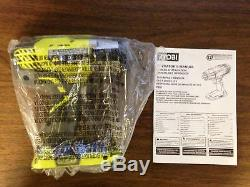NEW Ryobi P261 18V ONE+ 1/2 in Cordless 3-Speed Impact Wrench Bare Tool with Bag