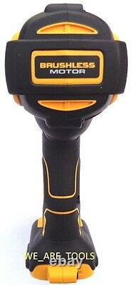 New Dewalt 20 Volt DCF899 1200 Lb 1/2 Impact Wrench, (2) DCB204 Battery, Charger