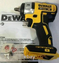 New Dewalt XR 20 Volt 3/8 Inch Brushless Impact Wrench Bare Tool # DCF890