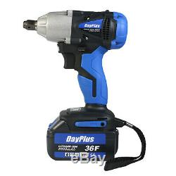 New In Box Dayplus Cordless 1/2 High Torque Impact Wrench 21V 2X Li-Lon Battery