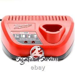 New Milwaukee 2457-20 M12 12V 3/8 Li-Ion Cordless Ratchet 4.0 AH Battery Kit
