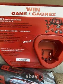 New Milwaukee 2463-20 M12 12V Li-Ion Cordless 3/8 Impact Wrench With Kit Battery
