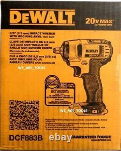 New N Box Dewalt DCF883B 20V 3/8 Impact Wrench 20V Cordless 20 volt Hog Ring