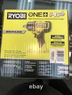 New RYOBI P262 / HP ONE+ 18V Brushless Cordless 4-Mode 1/2 in. Impact Wrench