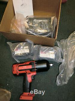 New Snap-On 1/2 Drive Cordless Impact Wrench CT8850GM 18V Kit CT8850