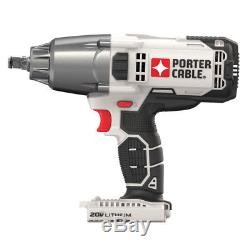 PORTER CABLE 20V MAX 1/2 Drive Cordless Impact Wrench (Tool Only) PCC740B