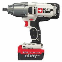 PORTER-CABLE PCC740LA 1/2-inch 20 Volt Cordless 20V Impact Wrench with One Battery