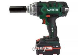 Parkside 20V Cordless Vehicle Impact Wrench 4AH Battery And Charger