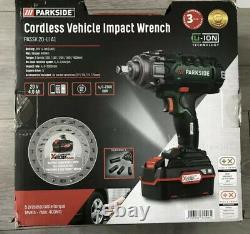 Parkside 20V Cordless Vehicle Impact Wrench PASSK 20 LI A1