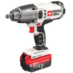 Porter-Cable PCC740LA 20-Volt 1/2-Inch Cordless Lithium-Ion Impact Wrench