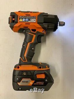 RIDGID Cordless Brushless 1/2 Inch Impact Wrench Kit W 4.0 Battery & Charger