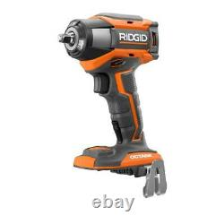 RIDGID Cordless Brushless Impact Wrench Kit 3/8-Inch 18-Volt Battery Charger